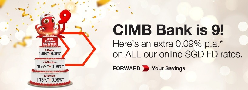 CIMB Bank 9th Birthday Fixed Deposit Promotion