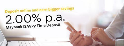 iSAVvy Time Deposit Offers 2.00% p.a.